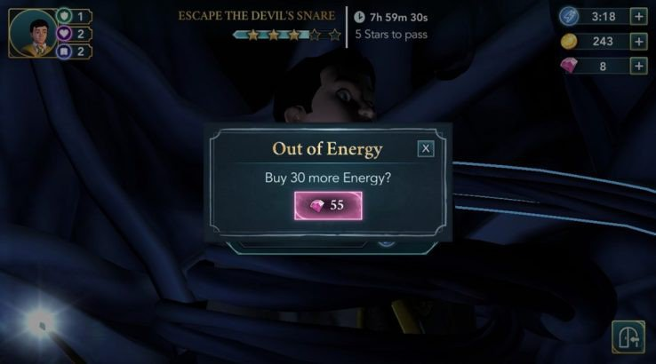 harry potter hogwarts mystery out of energy screen